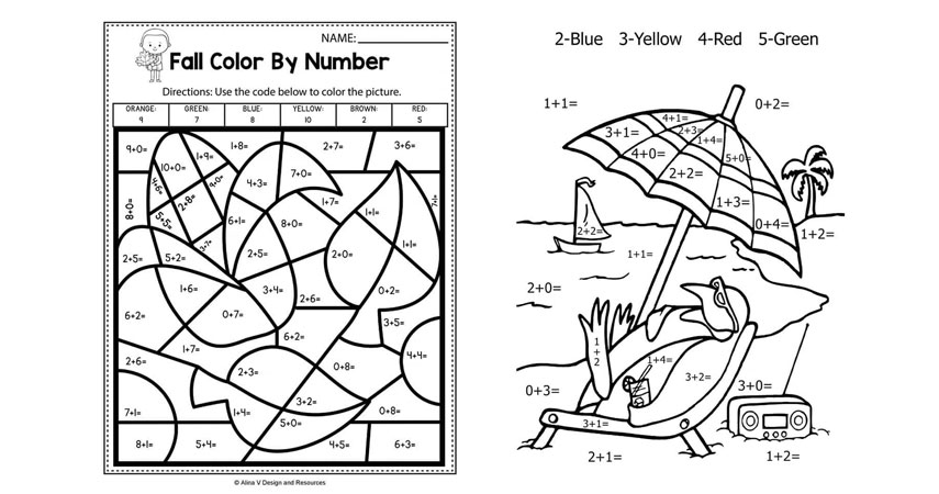 Math Colour by Numbers
